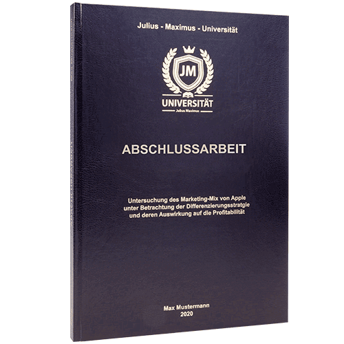 Abschlussarbeit binden lassen im Standard Hardcover