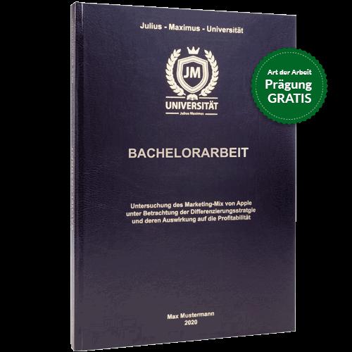 Bachelorarbeit binden lassen im Standard Hardcover schwarz