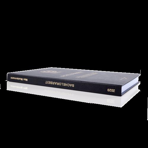 Bachelorarbeit binden lassen in Standard-Hardcover schwarz Buchrücken