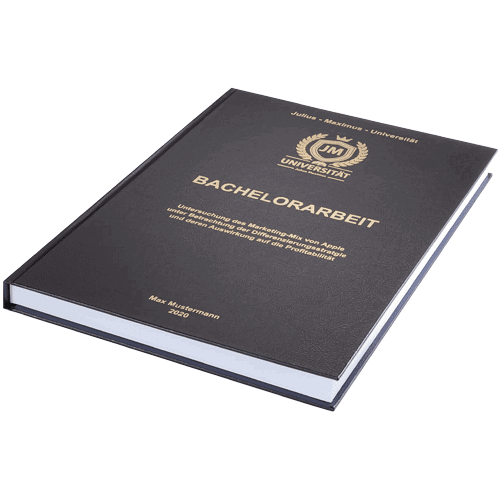 Bachelorarbeit binden lassen in Standard Hardcover schwarz liegend