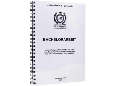 Bachelorarbeit drucken und binden mit der Spiralbindung aus Metall