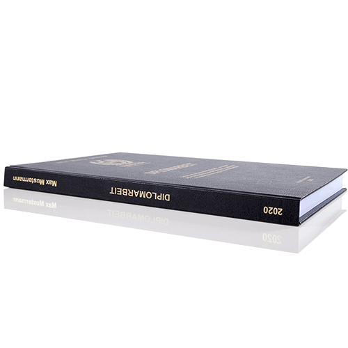 Diplomarbeit binden lassen im Standard Hardcover Buchrücken