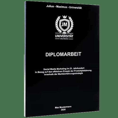 Diplomarbeit binden mit der Magazinbindung schwarz