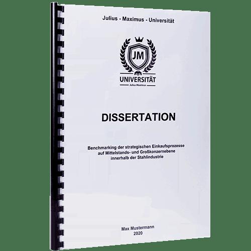 Dissertation drucken und binden mit der Spiralbindung Plastik