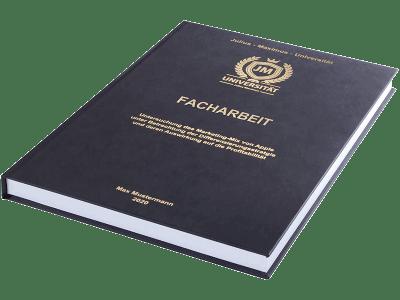 Facharbeit drucken und binden lassen im Premium Hardcover schwarz