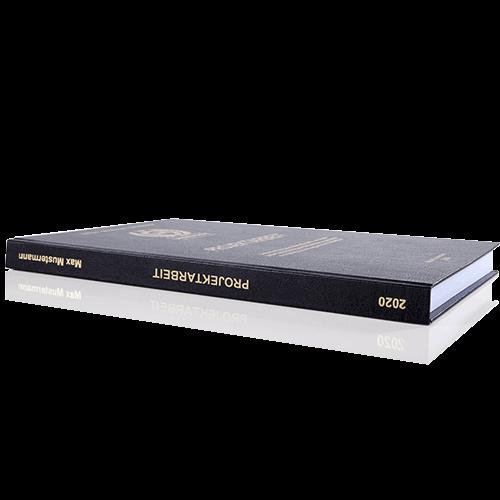 Projektarbeit binden lassen im Standard Hardcover Buchrücken