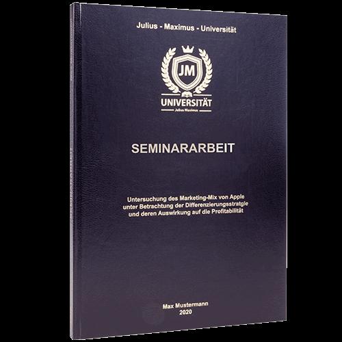 Seminararbeit binden lassen im Standard Hardcover
