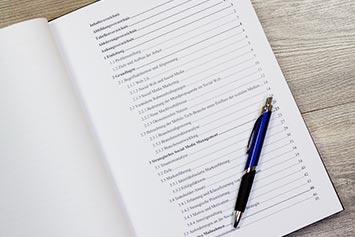 Inhaltsverzeichnis für Bachelorarbeit und Hausarbeit - Muster und Beispiele