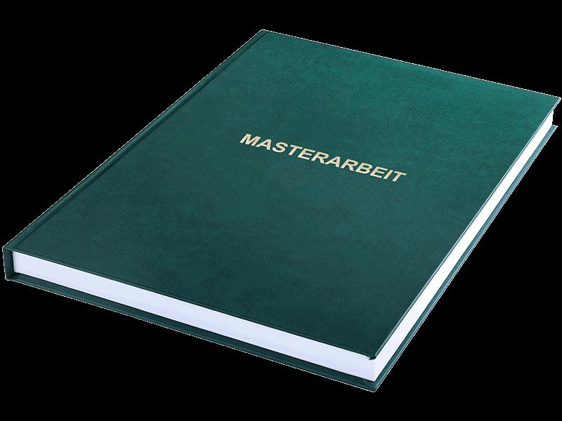 Dauer Masterarbeit Drucken und Binden mit der Hardcover Bindung ohne Prägung