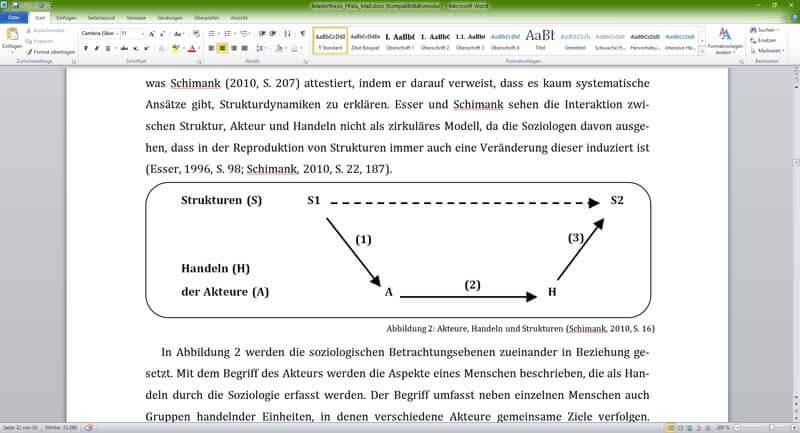 Abbildung in Word für Abbildungsverzeichnis