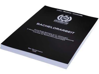 Bachelorarbeit binden mit Magazinbindung in Schwarz