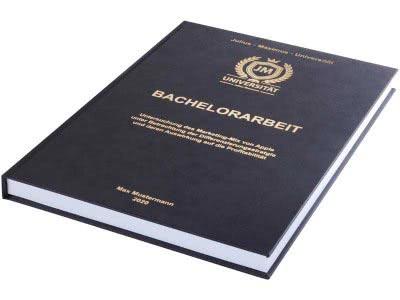 Bachelorarbeit drucken und binden lassen im Premium Hardcover schwarz