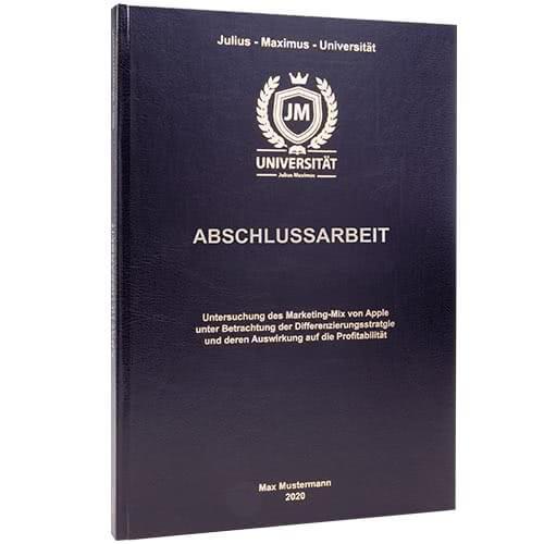 Abschlussarbeit drucken und binden lassen im Standard Hardcover