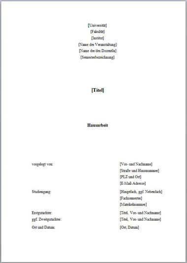 Muster 1 Deckblatt Hausarbeit-1