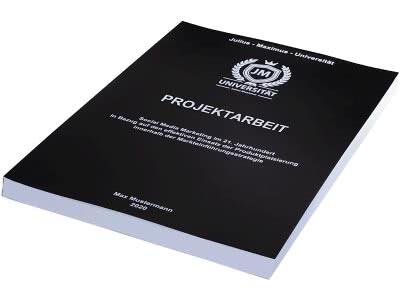 Projektarbeit drucken und binden in der Magazinbindung schwarz