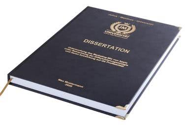 Dissertation drucken und binden lassen