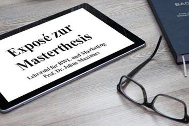 Exposé für die Masterarbeit schreiben