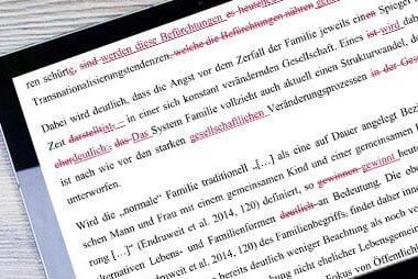 Lektorat und Korrekturlesen für die Dissertation