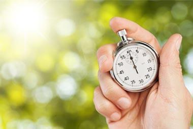 Dauer für das Drucken und Binden der Hausarbeit