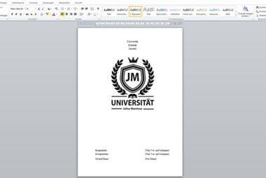 Deckblatt für die Diplomarbeit gestalten