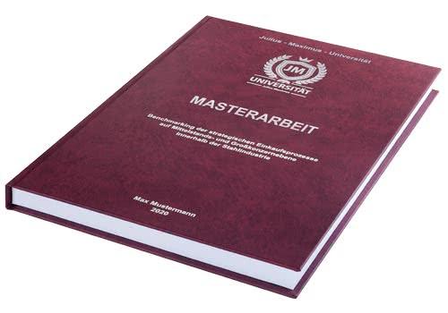 Kosten und Preise Masterarbeit drucken und binden im Hardcover