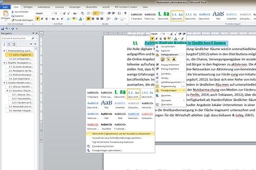 Überschrift nummerieren Word Inhaltsverzeichnis S