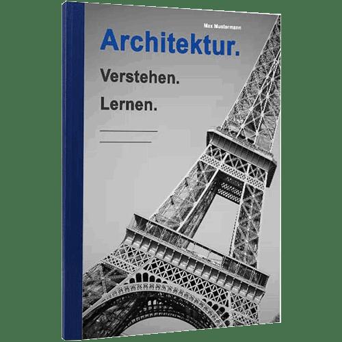 Buch binden mit Klebebindung blau