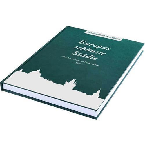 Buch drucken mit Premium Hardcover grün