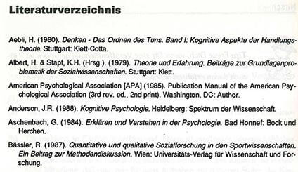 iteraturverzeichnis - das Regelwerk für deine Dissertation