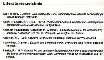 Literaturverzeichnis - das Regelwerk für deine Seminararbeit