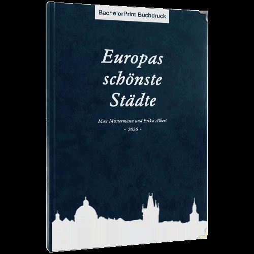 Premium-Hardcover Buch drucken blau
