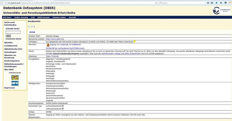 Internetrecherche mit Datenbanken