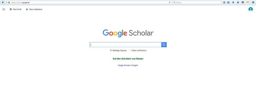 Internetrecherche mit Google Scholar