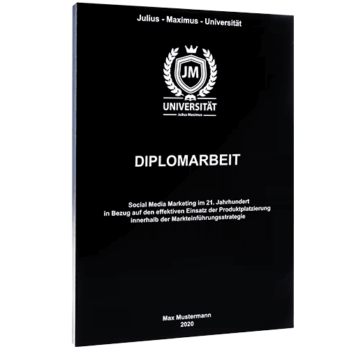 Diplomarbeit binden mit Magazinbindung schwarz