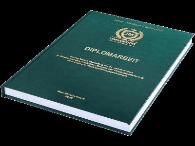 Diplomarbeit binden und drucken lassen - Premium Hardcover dunkelgrün klein