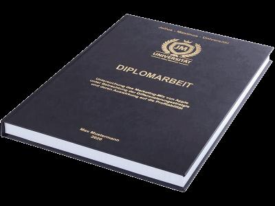 Diplomarbeit binden und drucken lassen - Premium Hardcover schwarz klein