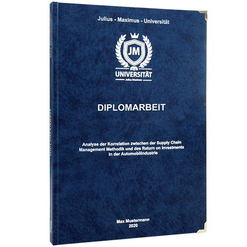 Diplomarbeit drucken im Premium Hardcover Bindung dunkelblau
