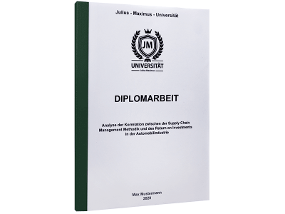 Diplomarbeit drucken mit Standard Hardcover dunkelgrün