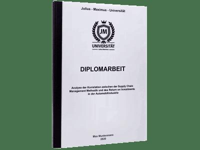 Diplomarbeit drucken mit Standard Hardcover schwarz