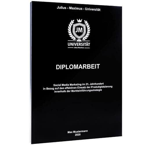Diplomarbeit drucken mit der Magazinbindung in schwarz