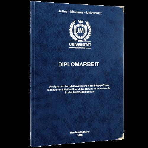 Diplomarbeit drucken und binden im Premium Hardcover dunkelblau