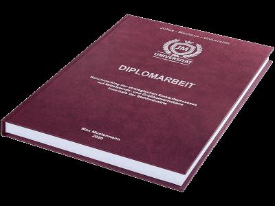 Diplomarbeit drucken und binden lassen - Premium Hardcover bordeauxrot klein