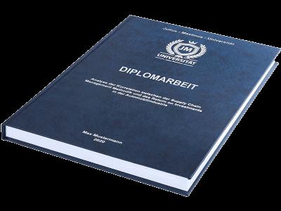Diplomarbeit drucken und binden lassen - Premium Hardcover dunkelblau klein