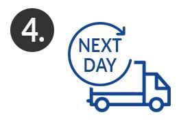 Schritt 4 - Bekomme deine gedruckte Diplomarbeit bereits am nächsten Werktag per Next Day Express