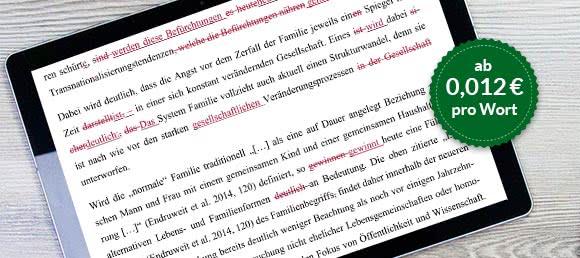 Korrekturlesen Korrektorat Deutsch-Muttersprachler