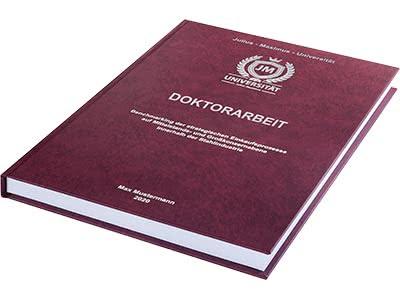 Doktorarbeit binden Hardcover rot
