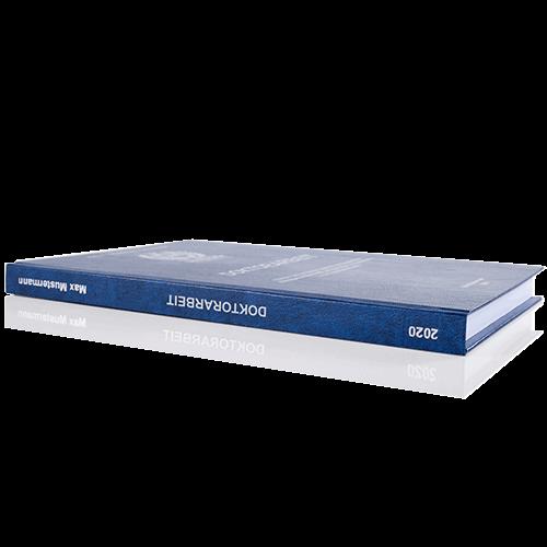Doktorarbeit binden Standard Hardcover BuchrückenDoktorarbeit binden Standard Hardcover Buchrücken