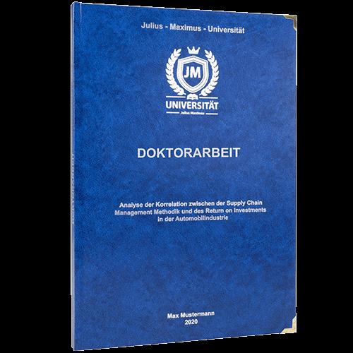 Doktorarbeit binden standard Hardcover