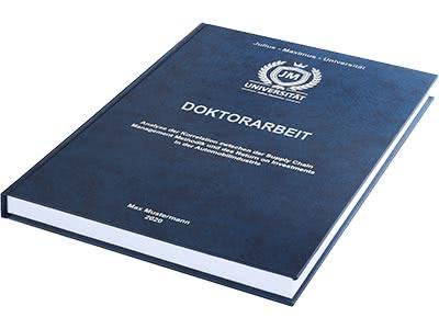 Doktorarbeit drucken Hardcover blau