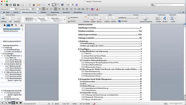 Inhaltsverzeichnis-Word-Beispiel-Mac